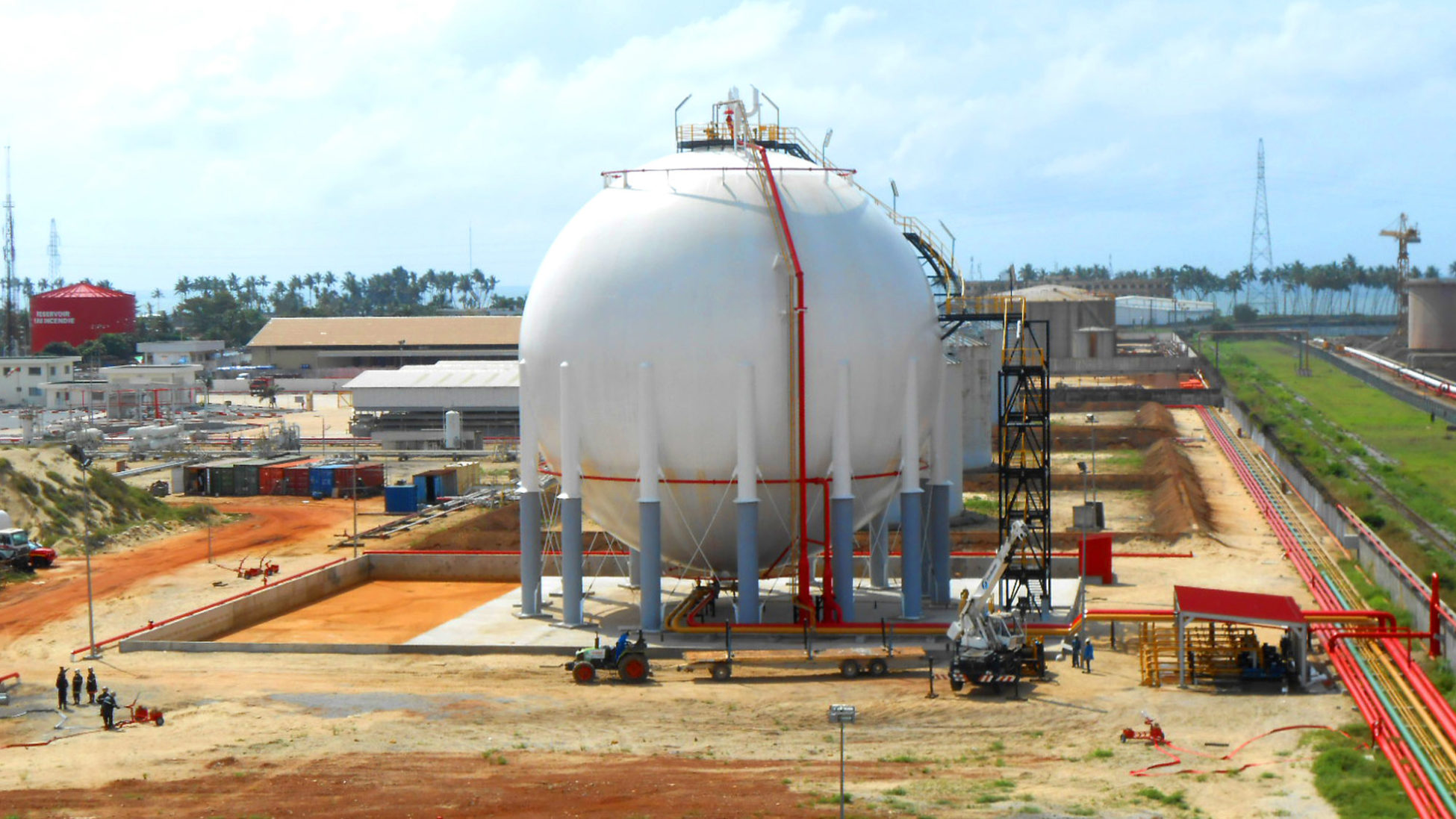 Friedlander sets up an 8,000 m3 LPG storage sphere